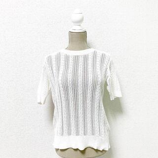 LOWRYS FARM - LOWRYSFARM ローリーズファーム トップス ニット 半袖 白 ホワイト
