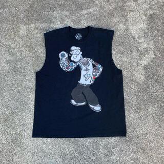 STUSSY - POPEYE キャラTシャツ vintage 00's 90's タンクトップ