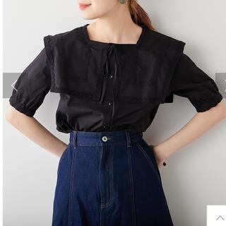 ナイスクラップ(NICE CLAUP)のナイスクラップ セーラー襟風ブラウス ブラック(シャツ/ブラウス(半袖/袖なし))