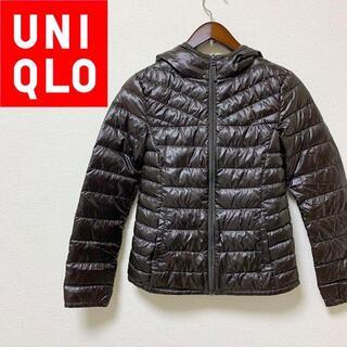 ユニクロ(UNIQLO)の美品 UNIQLO ユニクロ プレミアム ウルトラライトダウン パーカー 春 冬(ダウンジャケット)