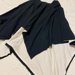 アトリエボズ(ATELIER BOZ)のBLACKPEACENOW 白黒アシンメトリースカート(ひざ丈スカート)