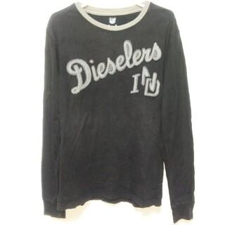 ディーゼル(DIESEL)のDIESEL 長袖Tシャツ サイズS ネイビー(Tシャツ/カットソー(七分/長袖))
