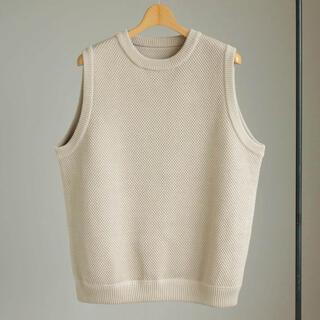 ワンエルディーケーセレクト(1LDK SELECT)の17ss crepuscule Lowgage Moss Stitch Vest(ベスト)