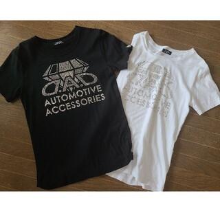 ルシアンペラフィネ(Lucien pellat-finet)のD.A.D スワロフスキーTシャツ2枚セット(Tシャツ/カットソー(半袖/袖なし))