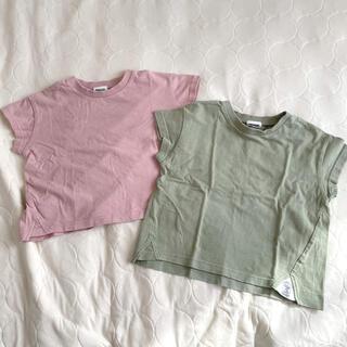 BREEZE - BREEZE ブリーズ  半袖Tシャツ 100cm ピンク&グリーン 2枚SET