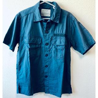 ベイフロー(BAYFLOW)の6121 BAYFLOW ベイフロー インディゴ リネン 刺繍 半袖シャツ 2(シャツ)