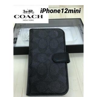 コーチ(COACH)のコーチ iPhone ケース 手帳型 COACH★iPhone12mini(iPhoneケース)