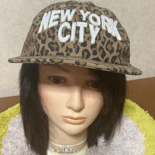 レイジブルー(RAGEBLUE)のキャップ 帽子 ヒョウ柄 ニューヨーク NY(キャップ)