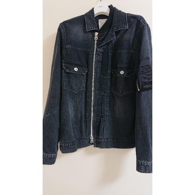 sacai(サカイ)のサイズ2 美品 sacai デニム ジャケット メンズのジャケット/アウター(Gジャン/デニムジャケット)の商品写真