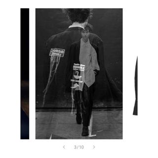 Yohji Yamamoto - yohjiyamamoto 21ss ワッペン麻アシメジャケット
