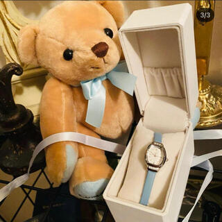 4℃ - 4℃ ティファニーブルー 腕時計2回使用 テディベアは付きません