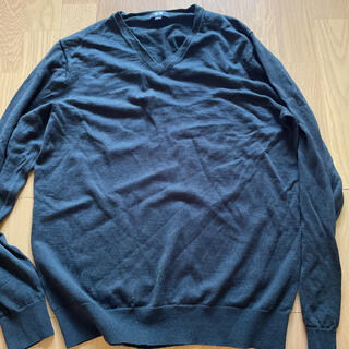 ユニクロ(UNIQLO)のエクストラファインメリノVネックセーター(長袖)(ニット/セーター)