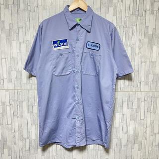 carhartt - WILSON 80s REDKAP ワークシャツ企業刺繍 ビックサイズ XL