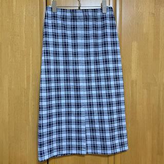 エイチアンドエム(H&M)のH&M チェックスカート(ひざ丈スカート)