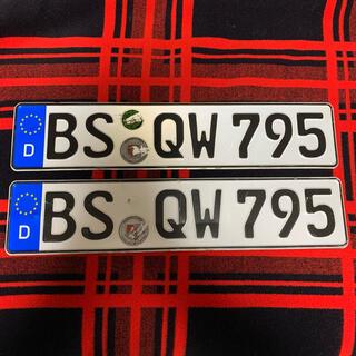 フォルクスワーゲン(Volkswagen)の795 本物 ユーロナンバープレート ドイツ BMW ベンツ アウディポルシェ(車外アクセサリ)