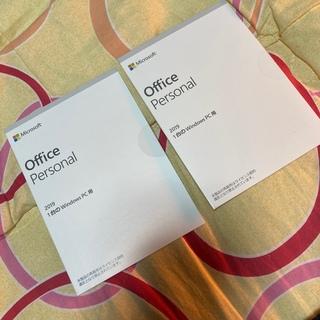 マイクロソフト(Microsoft)のOffice Personal 2019  パソコン付属 2set(その他)