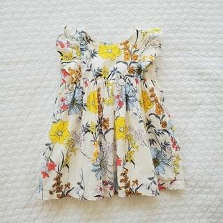 babyGAP - babyGap《ベビーギャップ》12~18 花柄ワンピース80