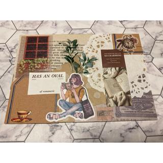 コラージュ 封筒 10枚セット おすそ分け レトロ アンティーク 女の子シール(カード/レター/ラッピング)