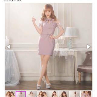 dazzy store - [Sサイズ]ガーリーフラワーエンブロイダリータイトミニドレス キャバドレス