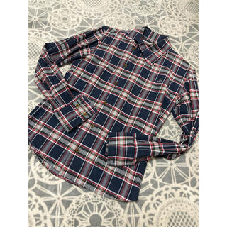 ヴィヴィアンウエストウッド(Vivienne Westwood)のヴィヴィアンウエストウッドマン メンズ 変形襟 チェックシャツ サイズ44(シャツ)
