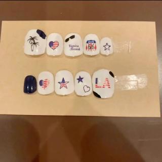 アメリカンネイル ネイルチップ つけ爪 アメリカ ロサンゼルス 国旗 星