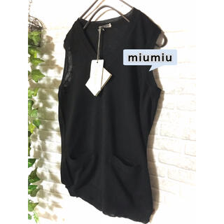miumiu - 【未使用タグ付】miumiu ミュウミュウ カシミヤ混 薄手ニット 40   L