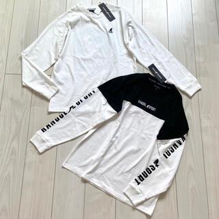 KANGOL - 新品 KANGOL メンズ ロングTシャツ ロンT モノトーン 白黒 まとめ売り