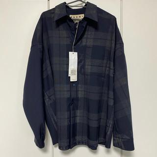 Marni - MARNI トロピカルウール チェックシャツ 20aw