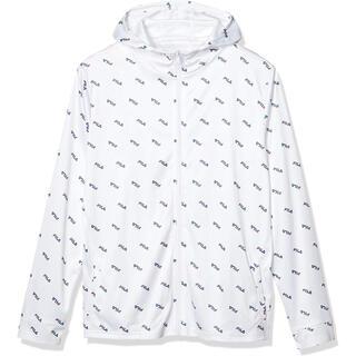 フィラ(FILA)のFILA フィラ ラッシュガード UVパーカジャケット ホワイト メンズM 新品(水着)