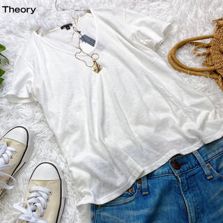 theory - 新品未使用タグ付き!セオリー コットンTシャツ シンプル 白