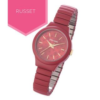 ラシット(Russet)のDaily russet【美品】ジャバラ ウォッチ 腕時計(腕時計)