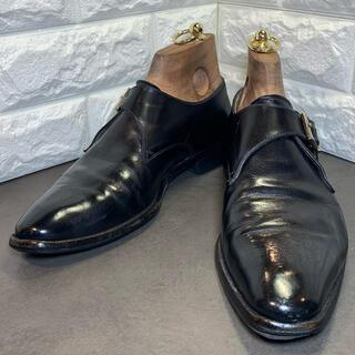 サントーニ(Santoni)のSANTONI サントーニ 6 1/2 黒 モンクストラップビジネス ドレス(ドレス/ビジネス)