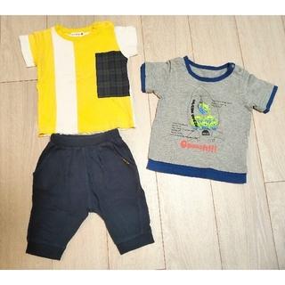 ブランシェス(Branshes)のBranshes 半袖シャツ・7分丈ズボン、ディズニーキャラクター半袖シャツ80(Tシャツ)