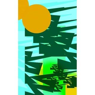 CG抽象画1216 テレワーク スマホ 抽象画(アート/写真)