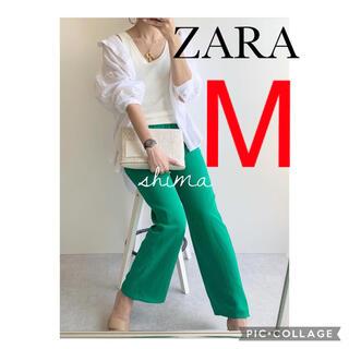 ザラ(ZARA)のZARA フルイドパンツ ザラ パンツ アップルグリーン(カジュアルパンツ)