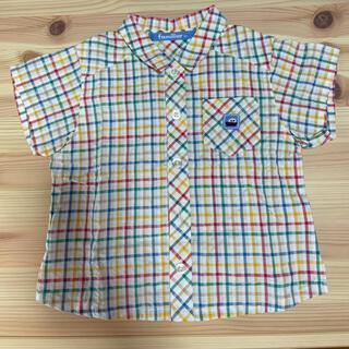 ファミリア(familiar)の美品 ファミリア チェック シャツ  半袖シャツ familiar 綿100% (シャツ/カットソー)