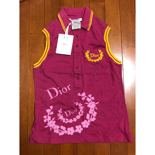 クリスチャンディオール(Christian Dior)のChristian Diorディオール☆ノースリーブポロシャツトップス(ポロシャツ)