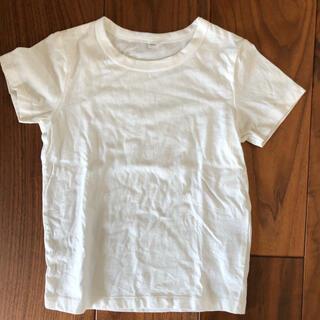 ムジルシリョウヒン(MUJI (無印良品))の美品MUJI100白半袖Tシャツ無印良品無地ユニクロ90(Tシャツ/カットソー)