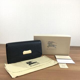 バーバリー(BURBERRY)の未使用品 バーバリー  二つ折り財布 ブラック 142(財布)