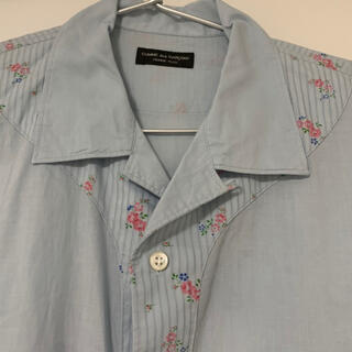 COMME des GARCONS HOMME PLUS - [超希少] コムデギャルソンオムプリュス 半袖シャツ 花柄 80s