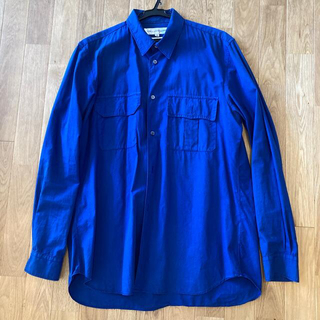 COMME des GARCONS - コムデギャルソン 長袖シャツ ブルー Mサイズ made in france