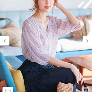 anySiS - エニィスィス シフォン フラワーブラウス 羽織りにも サイズ2