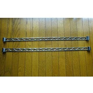 アイリスオーヤマ(アイリスオーヤマ)のメタルラック部品(サイドバー2本)幅80cmの棚板に適合(棚/ラック/タンス)