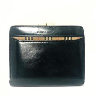 バーバリー(BURBERRY)のバーバリー 2つ折り財布 - 黒×マルチ(財布)