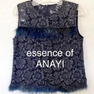ANAYI - 美品 essence of ANAYI アナイ 総レーストップス ブラウス