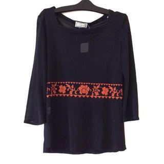 ジャンニヴェルサーチ(Gianni Versace)のジャンニヴェルサーチ 七分袖カットソー 38(カットソー(長袖/七分))