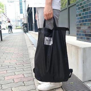 ニコアンド(niko and...)の【新品】ポストジェネラル パッカブル エコバッグ バッグパック リュック BK(エコバッグ)