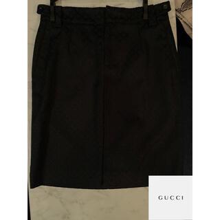 グッチ(Gucci)のGUCCI グッチ イタリア製 膝丈 タイトスカート(38) Mサイズ(ひざ丈スカート)