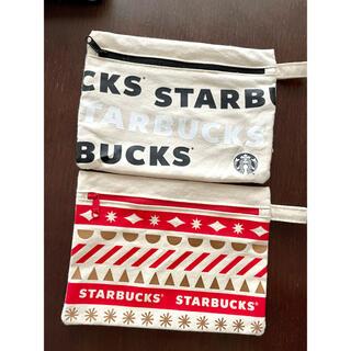 Starbucks Coffee - Starbucks 限定ポーチ2枚セット