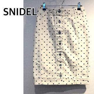 snidel - SNIDEL スナイデル デニムタイトスカート ドット 水玉
